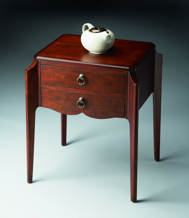7016024 Plantation Cherry Accent Table - Butler