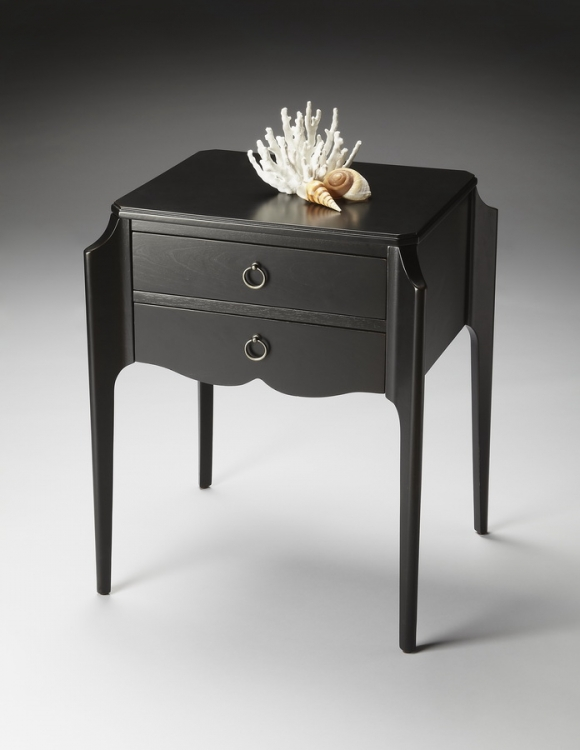 7016111 Black Licorice Accent Table - Butler