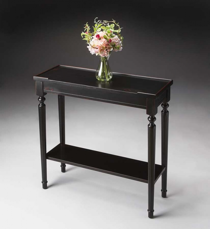 7036136 Plum Black Console Table