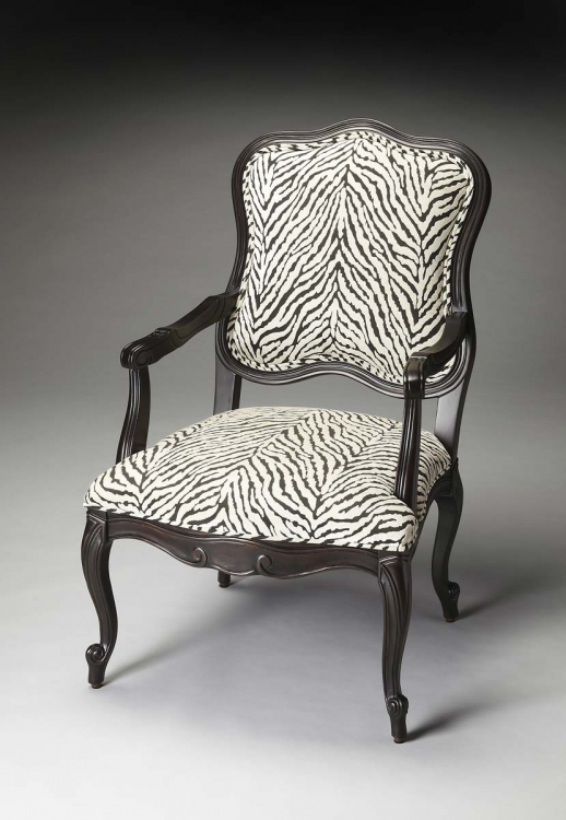 9507991 Accent Chair - Black Licorice - Butler