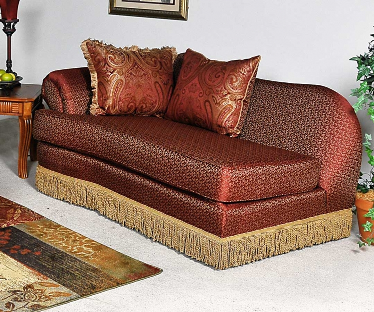 Royal Chaise - Patriot Chocolate - Benchmark Upholstery
