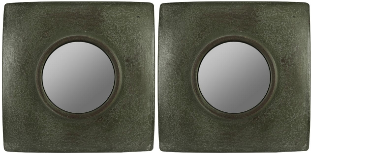 Jeremiah Mirrors Set of 2 - Dark Green