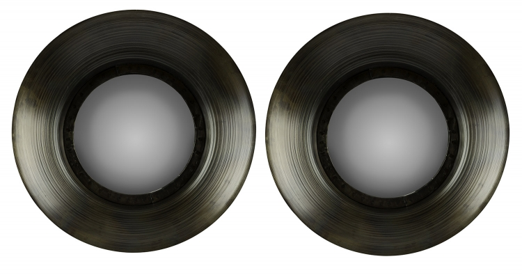 Sashi Mirrors Set of 2 - Dark Gray