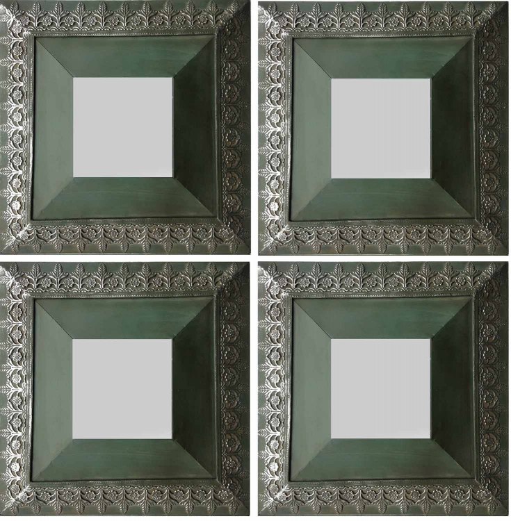 Ben 4 PC Mirrors Set - Green