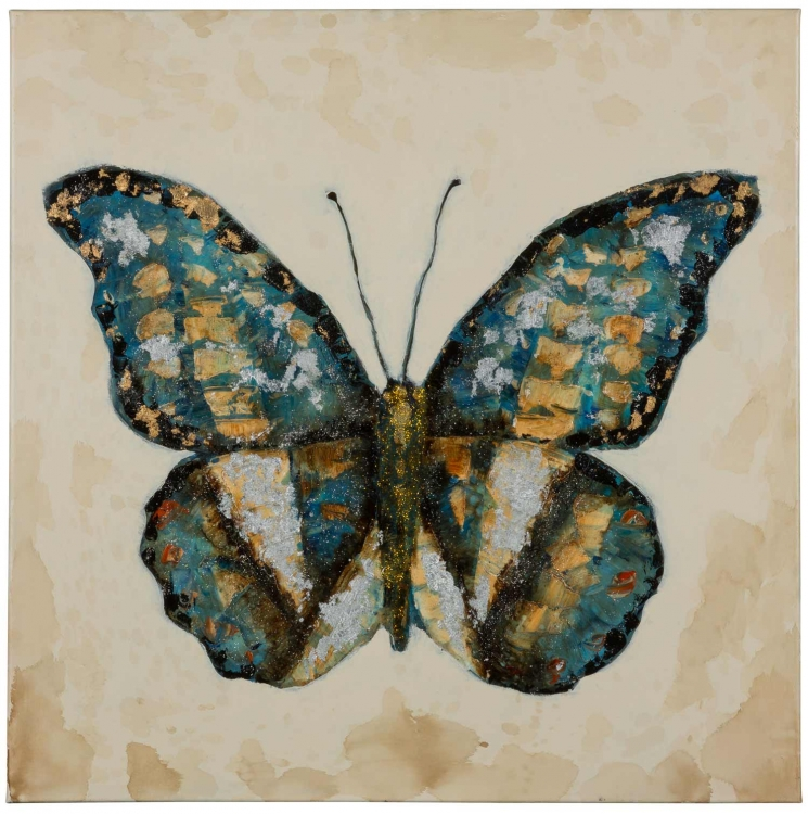 Shimmering Butterfly Canvas Painting