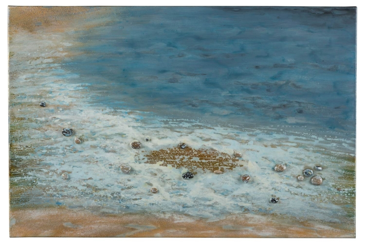 Pebbled Beach Canvas Painting