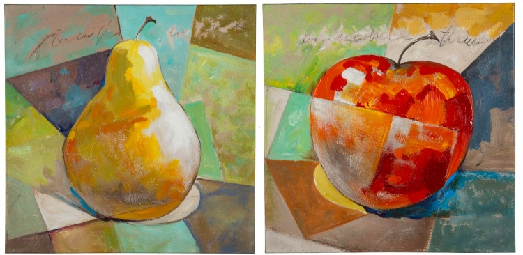 Fresh Fruit I - Set of 2 Canvas Painting