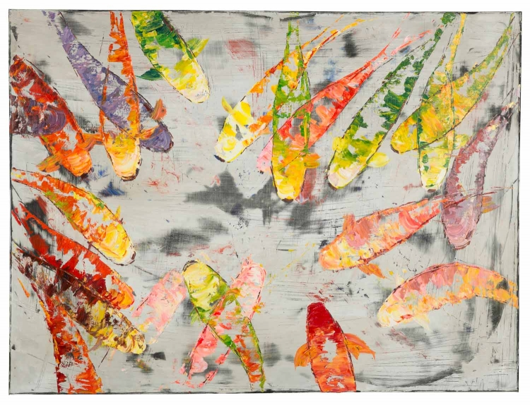 Koi II Canvas Painting