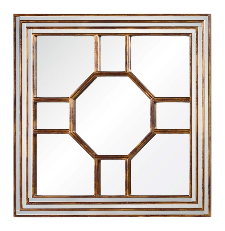 Arabella Mirror - Antiqued Gold