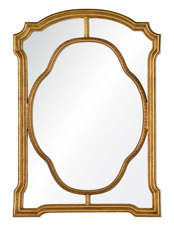 Cato Mirror - Antiqued Gold