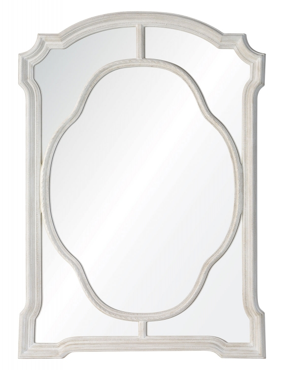 Clove Mirror - Textured Chalky White