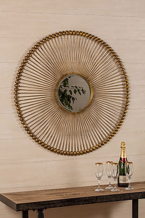 Larkspur Mirror - Antique Gold
