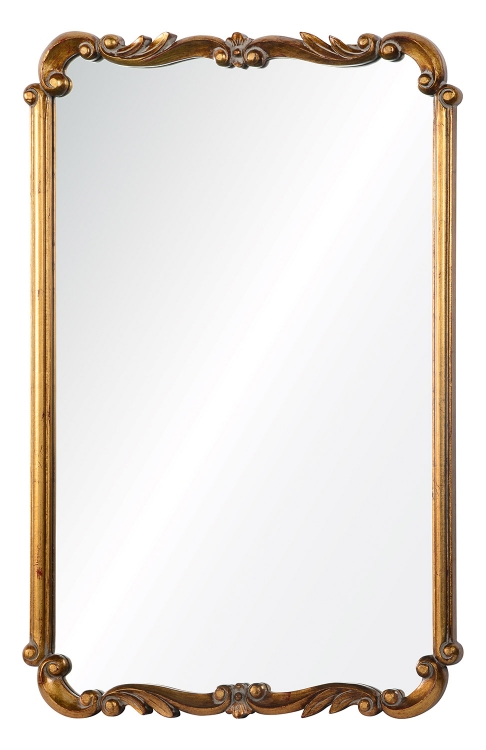 Toulouse Mirror - Antiqued Gold