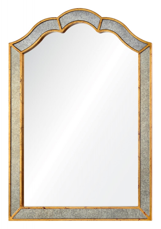 Huntington Mirror - Antiqued Gold