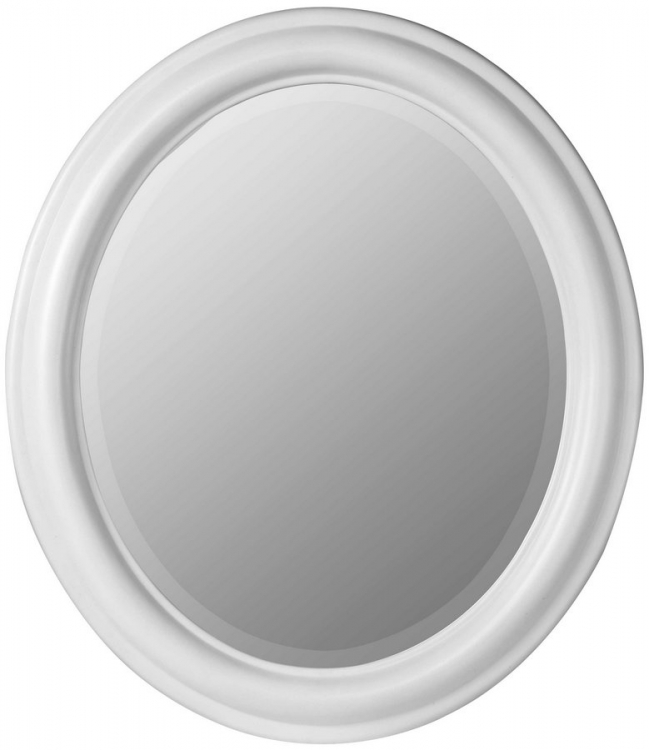 Addision Oval Mirror - White-Cooper Classics
