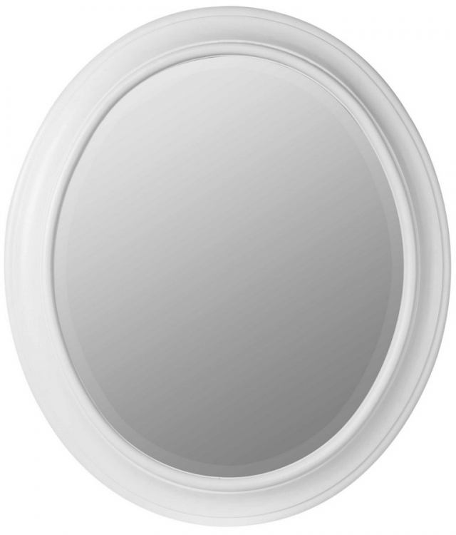 Chelsea Oval Mirror - White