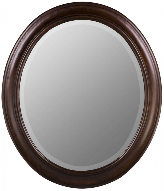 Chelsea Oval Mirror - Tobacco