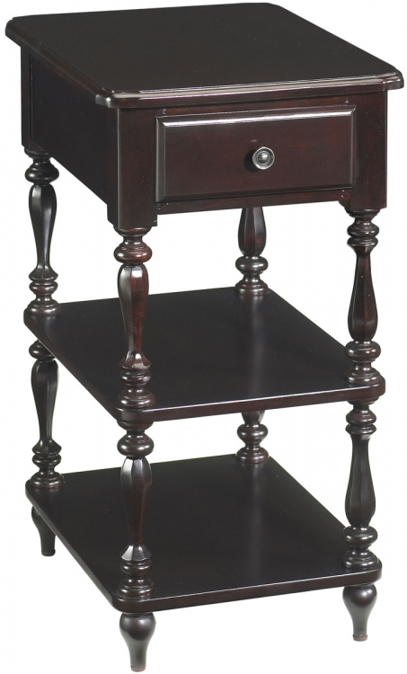 Camden Cottage Chairside Table - Merlot - Cooper Classics