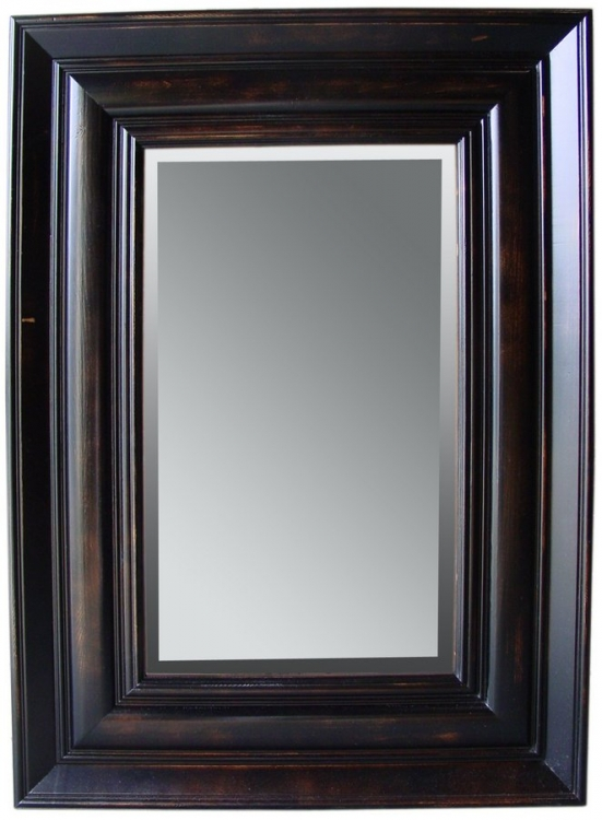 Isabelle Pine Rectangle Mirror - Black-Cooper Classics