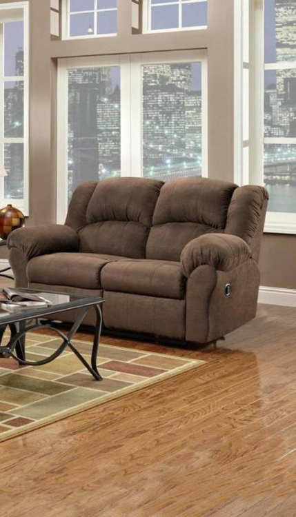 Ambrose Reclining Loveseat - Aruba Chocolate