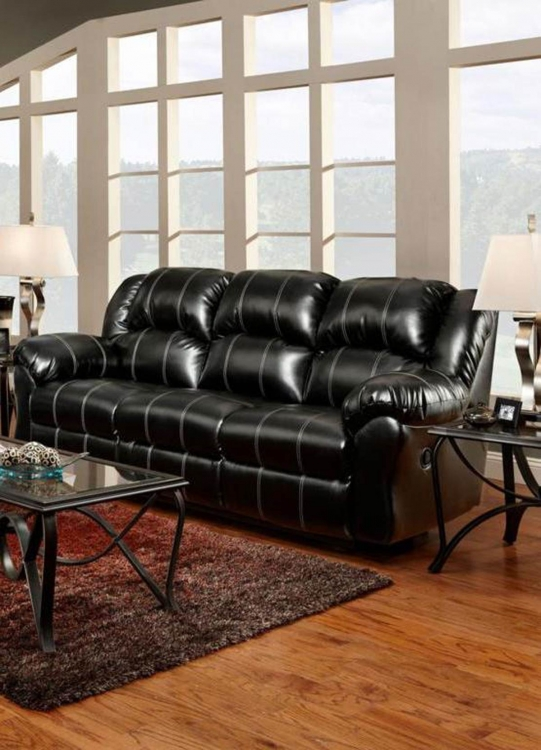 Ambrose Reclining Sofa - Taos Black