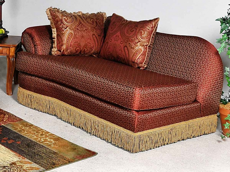 Royal Chaise - Baring Rust
