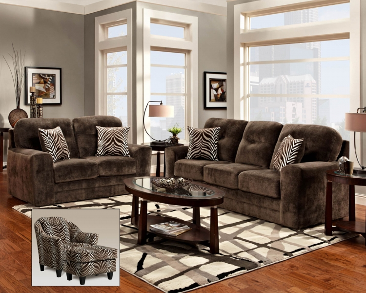 Mercer Sofa Set - Champion Chocolate - Chelsea