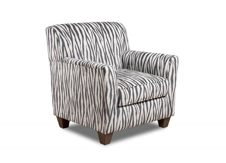 Zaire Accent Chair - Zebra Black