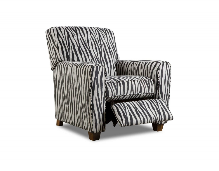 Barras Recliner Chair - Zebra Black