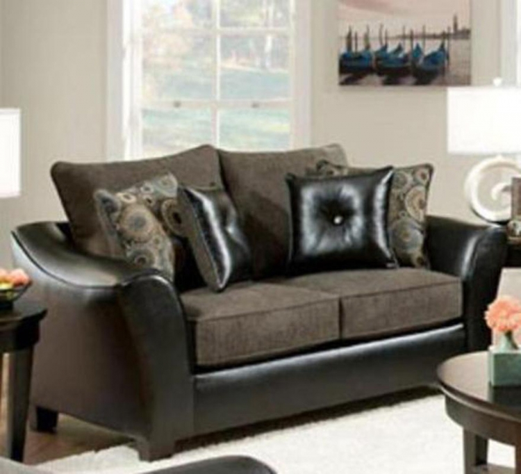 Union Loveseat - Pinnacle/PU Gray