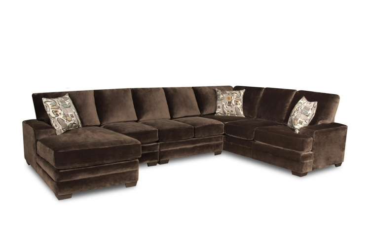 Barstow 4 Piece Sectional Sofa - Sharpei Charcoal