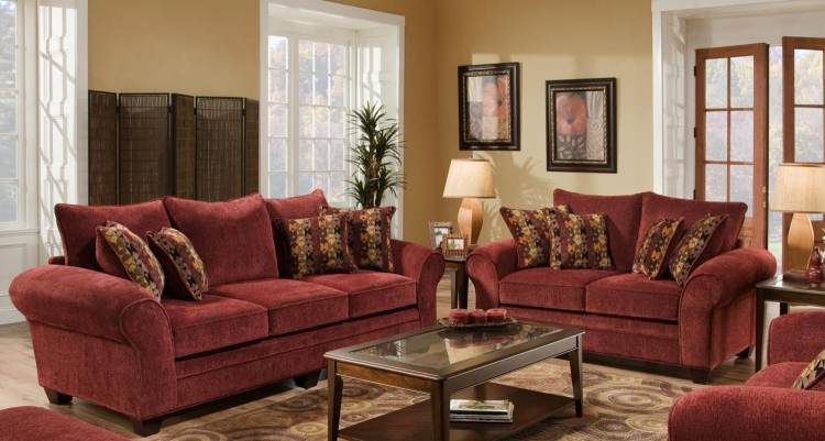 Clearlake Sofa Set - Masterpiece Burgundy