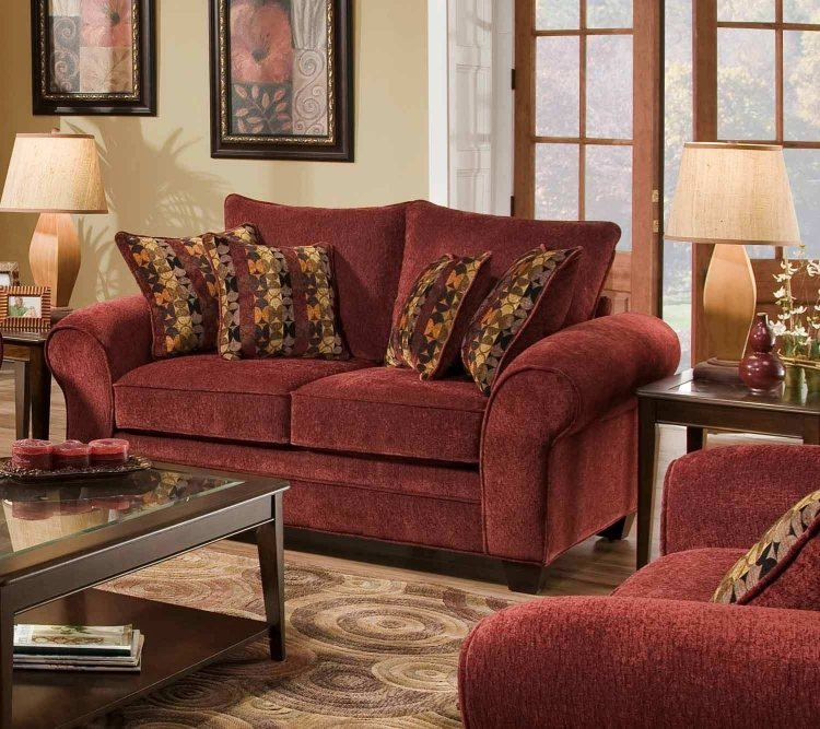 Clearlake Loveseat - Masterpiece Burgundy