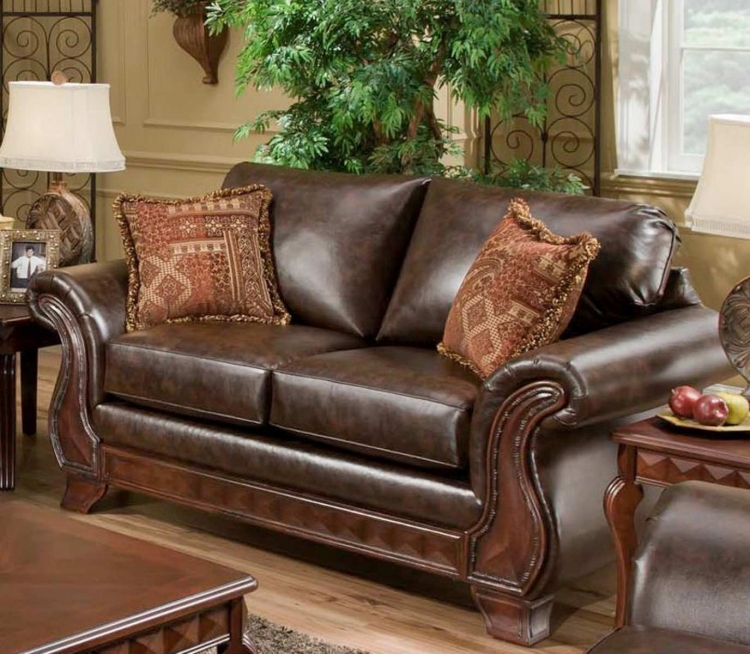 Jefferson Loveseat - New Era PU Walnut