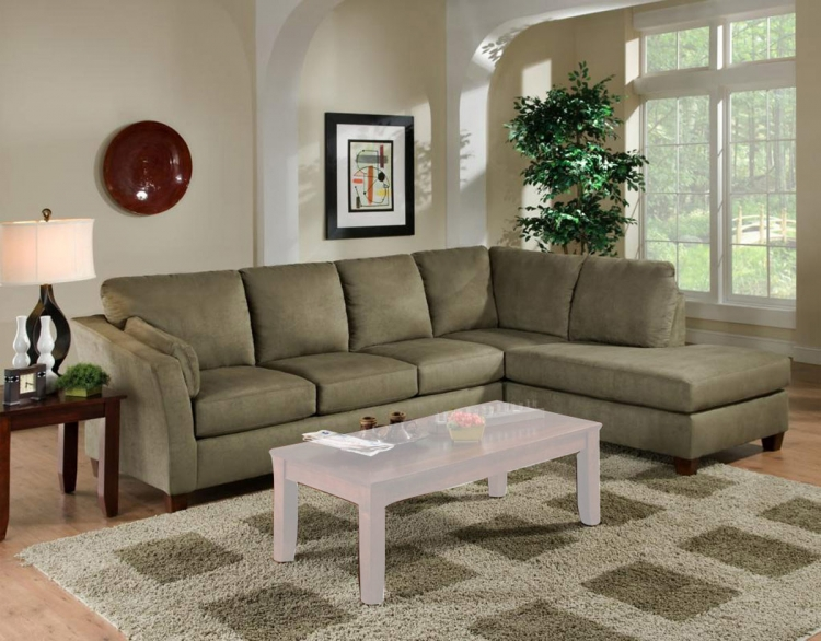 Broome 2 Piece Sectional Sofa - Glacier Olive