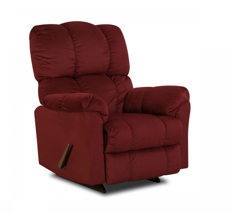 Michigan Power Recliner - Top Hat Berry