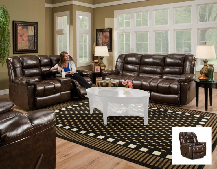 Orleans Reclining Sofa Set - New Era Walnut