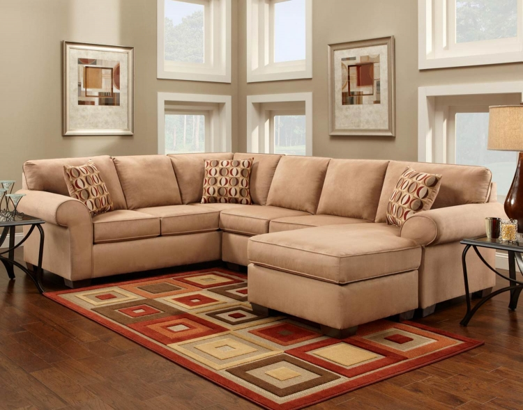 Allegany 2 Piece Sectional Sofa with Full Sleeper - Patriot Mocha
