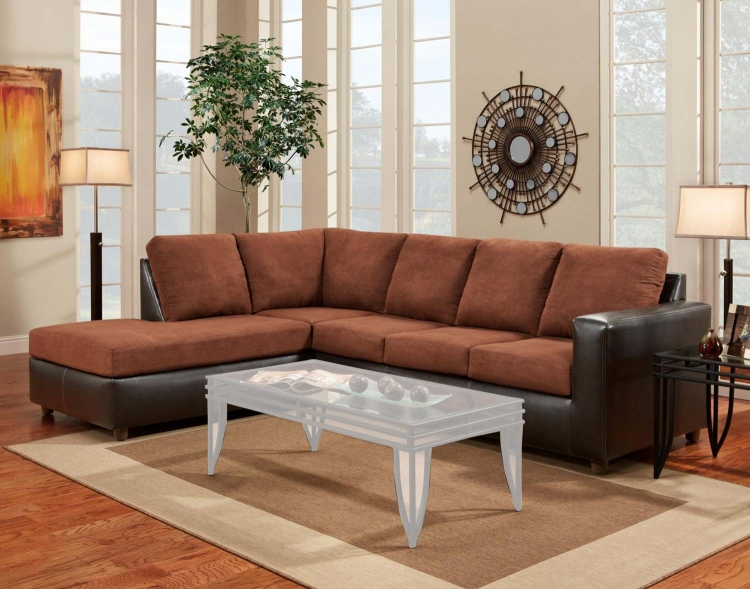 Harford 2 Piece Sectional Sofa - Aruba Chocolate