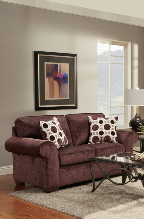 Worcester Loveseat - Prism Elderberry