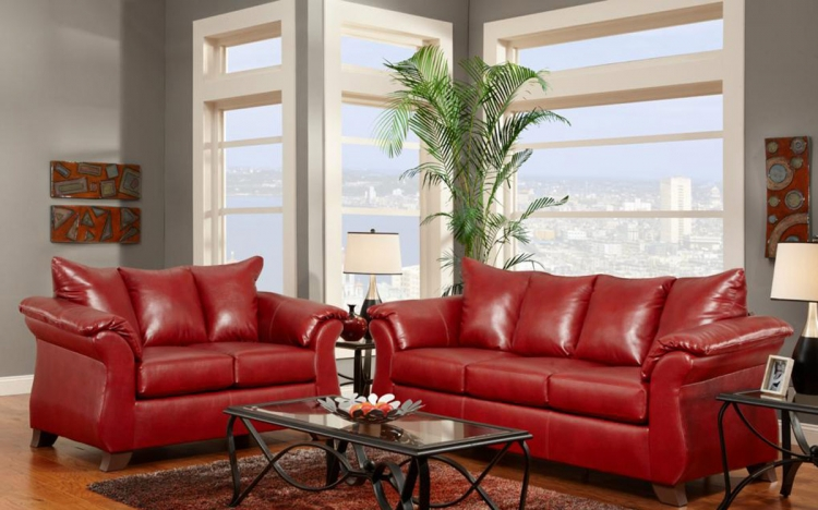 Armstrong Sofa Set - Sierra Red