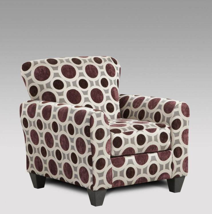 Worcester Accent Chair - Conspiracy Mulberry
