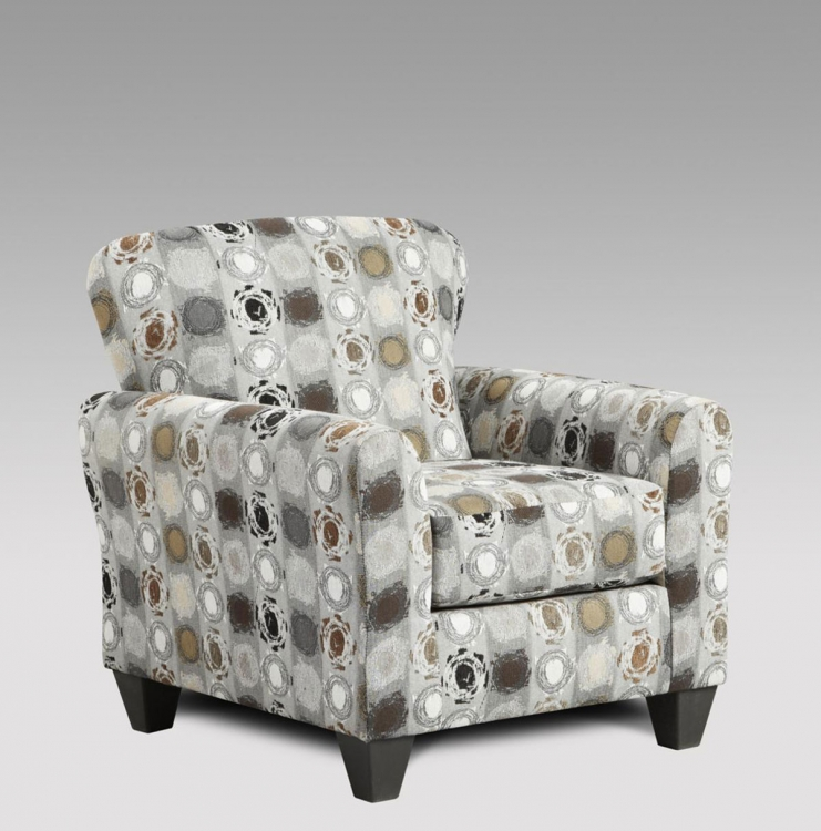 Talbot Accent Chair - Paintball Granite