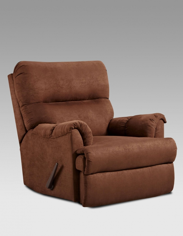 Lucas Chaise Rocker Recliner - Aruba Chocolate