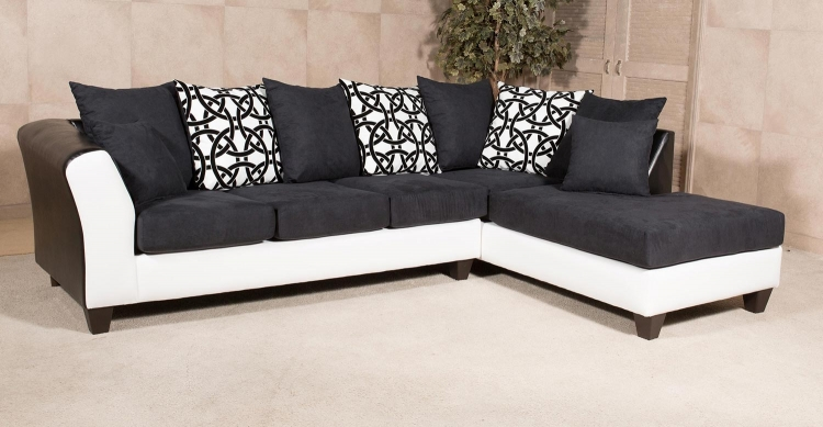 Monterey Sectional Sofa - San Marino Black