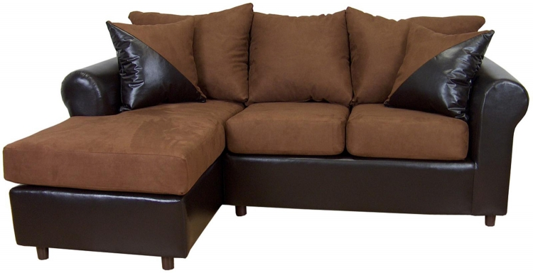 Tim 2 Piece Sectional Sofa - Mission Cinnamon/Bicast Chocolate