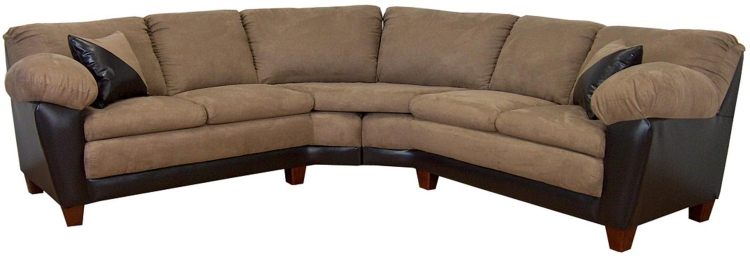 James 2 Piece Sectional Sofa - Bulldozer Mocha/Bicast Chocolate
