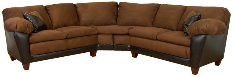 James 2 Piece Sectional Sofa - Mission Cinnamon/Bicast Chocolate