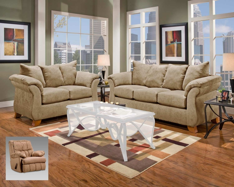 Payton Sofa Set - Sensations Camel