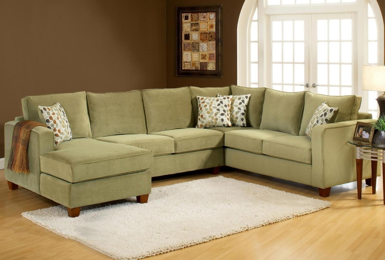 Bailey 3PC Sectional Sofa - Bella Lichen